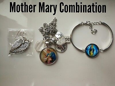 Code 409 Mother Mary infused n charged necklace, earrings bracelet confirmation