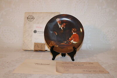 Norman Rockwell Collector Plate Knowles 1982 THE TYCOON Rockwell Heritage