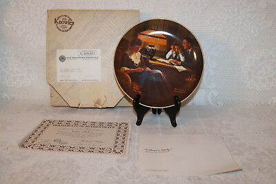 Norman Rockwell Collector Plate Knowles 1983 FATHER'S HELP Light Campaign