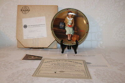 Norman Rockwell Collector Plate Knowles 1985 A YOUNG GIRLS DREAM American Dream