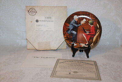 Norman Rockwell Collector Plate Knowles 1985 THE PROFESSOR Rockwell Heritage