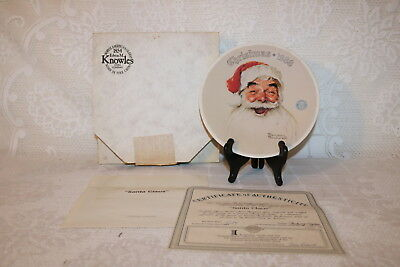 Norman Rockwell Collector Plate Knowles 1988 SANTA CLAUS Annual Christmas Series