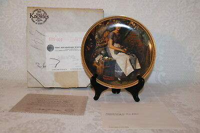 Norman Rockwell Collector Plate Knowles DREAMING IN THE ATTIC Rediscovered Women