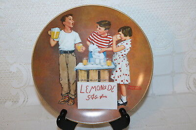 Norman Rockwell Collector Plt LITTLE SALESMAN Lemonade American Family Series II