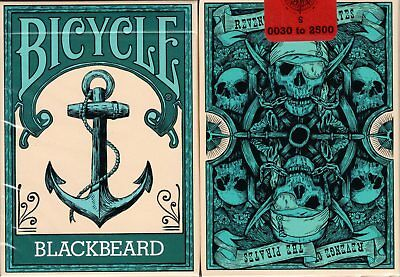 Blackbeard Bicycle Playing Cards Poker Size Deck USPCC Custom Limited Edition