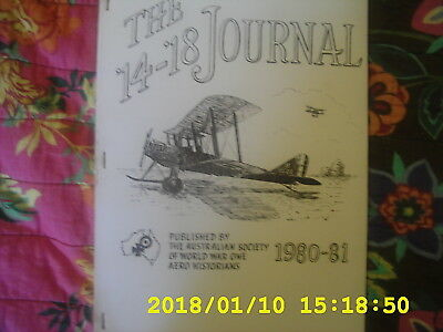 THE 14 - 18 JOURNAL   Published by The Australian Society Of WW1 Aero Historians
