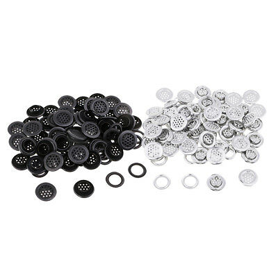 100 Sets Silver Black Metal Grommets Eyelets with Washers For Leather Canvas