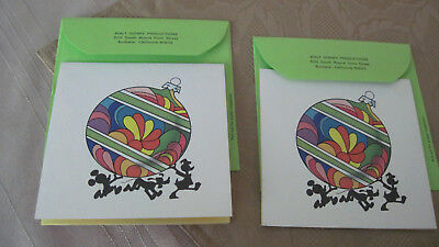 Disney Aristocats 1970 Christmas Cards with 1971 Calendar/2
