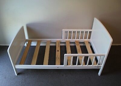 Toddler Bed | White (Mother's choice) with BABY BUNTING mattress