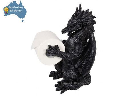 34cm Dragon Toilet Roll Holder Gothic Mythical Home Decor