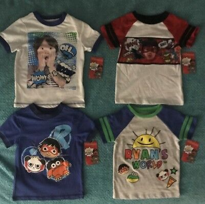 e65f2ce7b RYAN TOYS REVIEW Boys T-Shirt Size 4-5-6-7-8 Ryan's World Shirt New ...