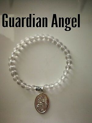 Code 427 Clear Quartz Guardian Angel Archangel Michael charged Infused bracelet