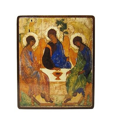 Orthodox Russian icon of the Holy Trinity Andrei Rublev