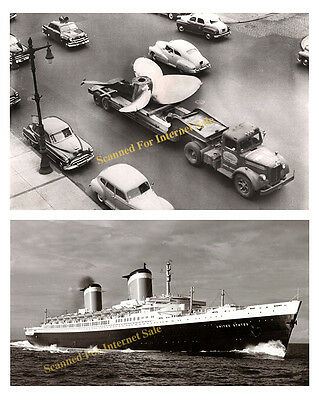 RARE 1950s SS UNITED STATES Ship Cutaway Poster