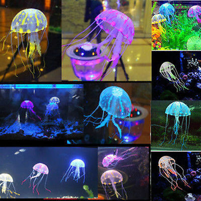 Jellyfish Aquarium Decoration Artificial Glowing Effect Fish Tank Supplies HIGH