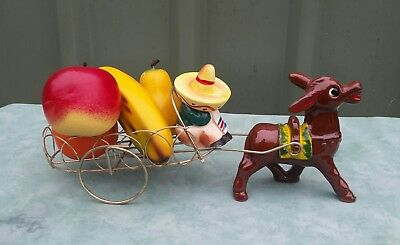 Vintage Retro Donkey And Cart Fruit Cart