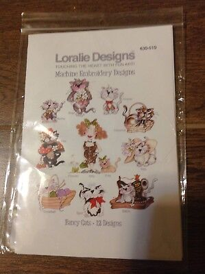 Fancy Cats Loralie Machine Embroidery Designs