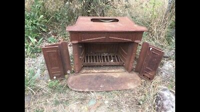 VERY RARE!, Antique Cast Iron Wood Fired Stove