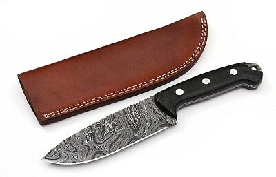 Custom made Damascus Hunting Knife 15n20 /1095 High Carbon Steel D13