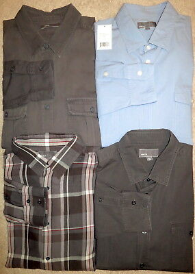 Authentic NEW VINCE Mixed Lot 4 SAFARI BUTTON DOWN CASUAL SPORT DRESS SHIRTS XL
