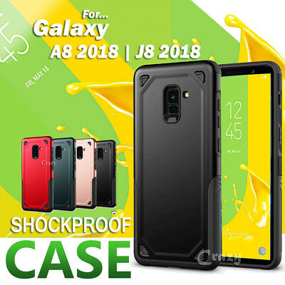 Heavy Duty Shockproof Tough Hybrid Case Cover For Samsung Galaxy A8 2018 J8 2018