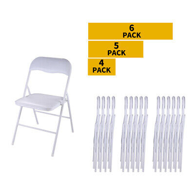 Commercial White Plastic Folding Chair 4/5/6 PCS Wedding Party Banquet Chairs
