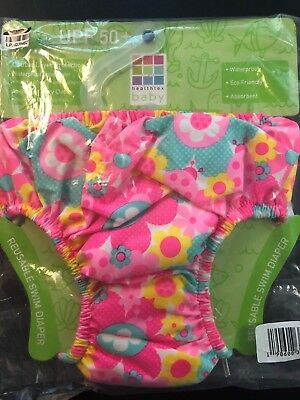 Healthtex Baby Girls' Reuseable Swim Diaper - Pink Passion - Size:18-24 M