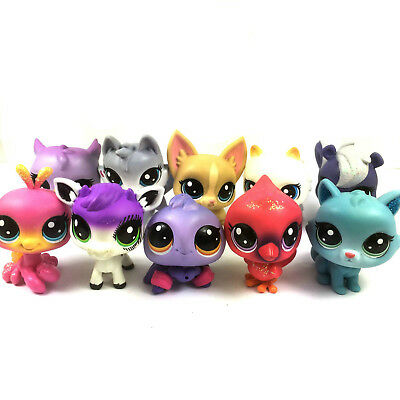 Lot 10PCS Littlest Pet Shop LPS hasbro Cat Dog Cute Figures Girl Kid toy Gift