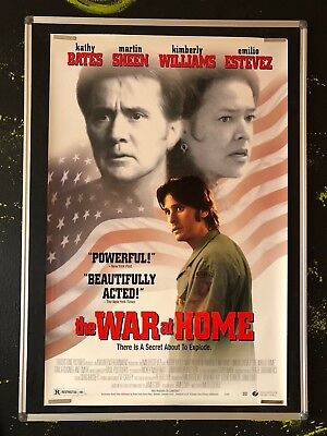 THE WAR AT HOME Original Movie Poster 1996 TWO DEALER ADS FREE KATHY BATES