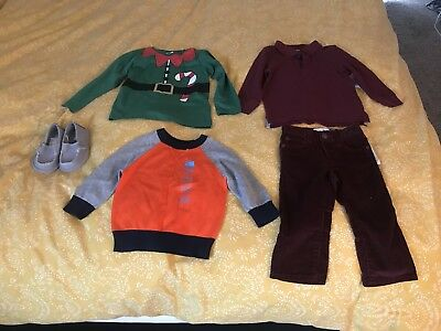Lot Of 12-18 Months Baby Boy Brand New Clothes And Shoes