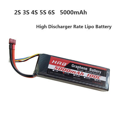 HRB 2S 3S 4S 5S 6S 5000mAh 100C 200C Graphene High Discharger Rate LiPo Battery