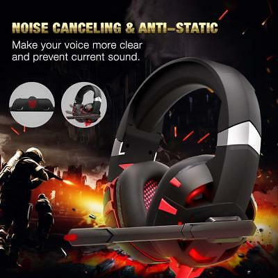 Gaming Headset with 7.1 Surround Sound Stereo Headphones with Nois Canceling mic