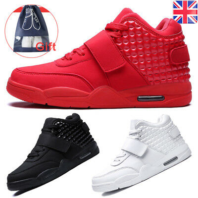 Men's Sneakers Athletic Casual  Flats High Top Lace Up Trainers Sport Shoes UK