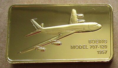 The Janes Medallic Register....boeing Model 707-120 Usa 1957..Gold On Bronze