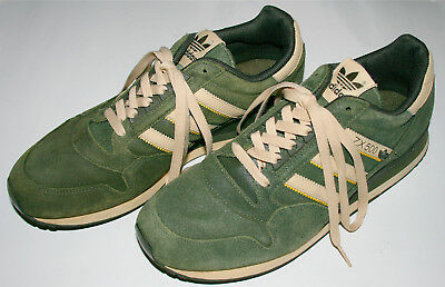 VINTAGE ADIDAS ZX 500 og green suede shoes Sneakers Size US 9.5 Rare