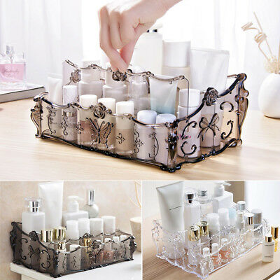 Desk Clear Acrylic Cosmetic Organiser Makeup Nail Varnish Jewellery Box Display