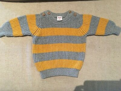 PRICE DROP Stripe crew knit - Seed - Brand new without tags - size 00