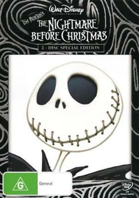 The Nightmare Before Christmas (Tim Burton's) New & Sealed DVD - Region 4