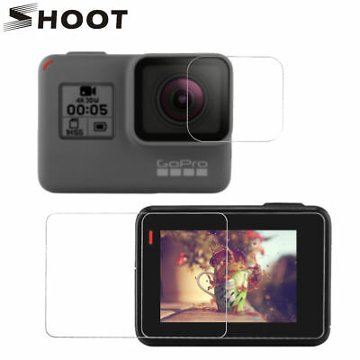HD Clear Lens&Screen Protective Protector Tempered Glass f GoPro Hero 7black/6 5