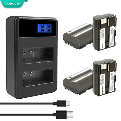 Powtree BP-511A Battery or Charger for Canon EOS 20D 30D 300D 40D 50D 5D GM