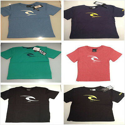 Rip curl Boys Babies Youth Icon Tee Groms Cusual Tops S/Sleeve T-shirt Size 0-16