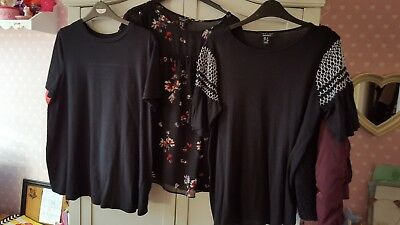 New Look Maternity Tops Bundle X 3 Size 12 Floral