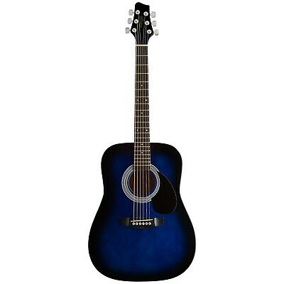Stagg 14352 34 BLS Dreadnought Acoustic Guitar - Blue Burst Right Handed
