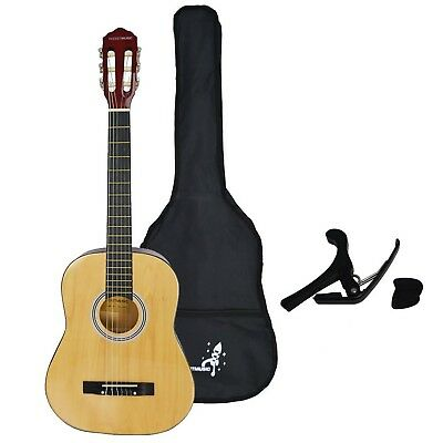Rocket 3/4 Size Classical Guitar Starter Pack Natural Guitar Pack