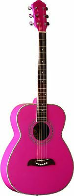 Oscar Schmidt OF2 P Acoustic Guitar - Pink