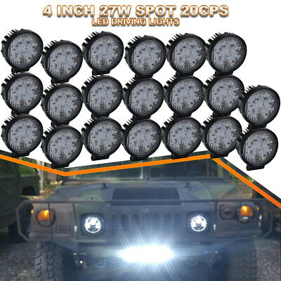 20x 4inch 27W LED Light Bar OffRoad Spot Lamp For Truck Jeep UTVs Alaskan Tacoma