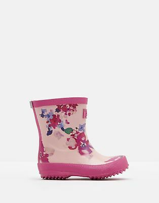 Joules 125053 Printed Welly in PINK FLORAL