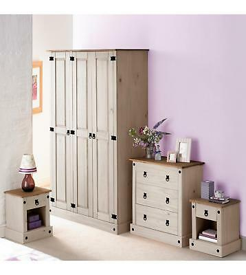 Brand New Mexican 4 Piece Solid Pine Bedroom Furniture SET - Two Tone