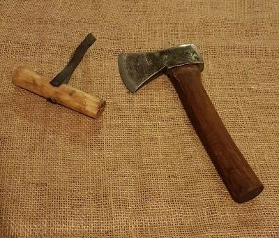 TOMAHAWK AXE WITH WOODEN SHEATH CAMPING HATCHET 1lb 7oz / 650G (with handle)