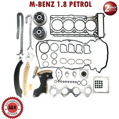 Mercedes Benz M271 1.8 L PETROL TIMING CHAIN KIT INCL VVT GEAR + HEAD GASKET SET